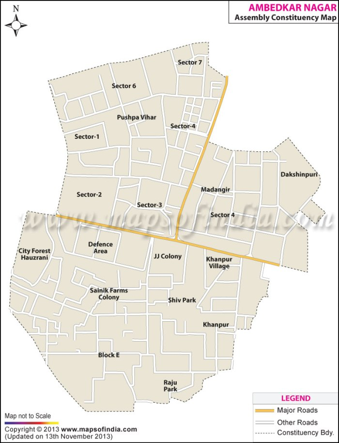 Ambedkar Nagar: Constituency Map