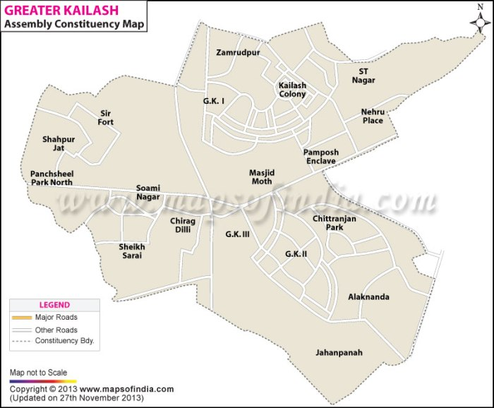 Greater Kailash: Constituency Map