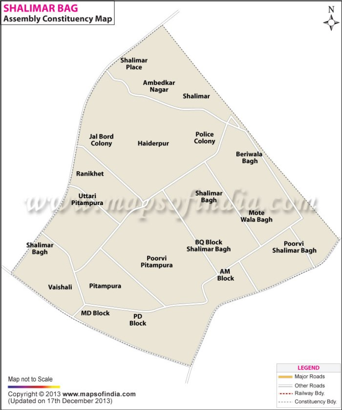 Shalimar Bagh: Constituency Map