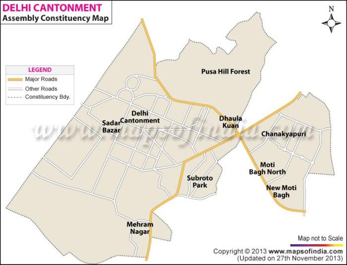 Delhi Cantonment: Constituency Map