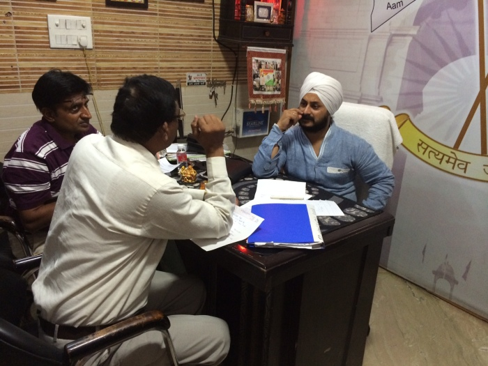 7-8 people at a time can meet Jarnail Singh in his office.