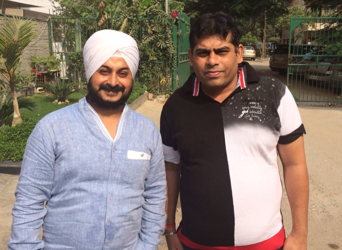 Jarnail Singh (Left) and the MCD's Junior Engineer (Left) share a positive working relationship. He is the youngest and most active Junior Engineer I have come across.