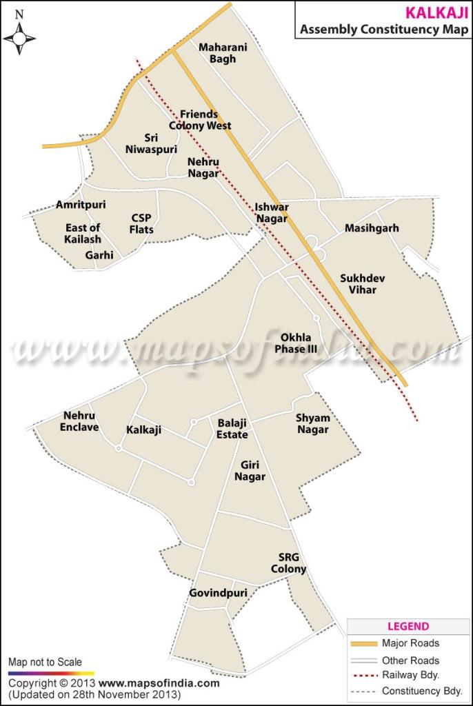 Kalkaji: Constituency Map