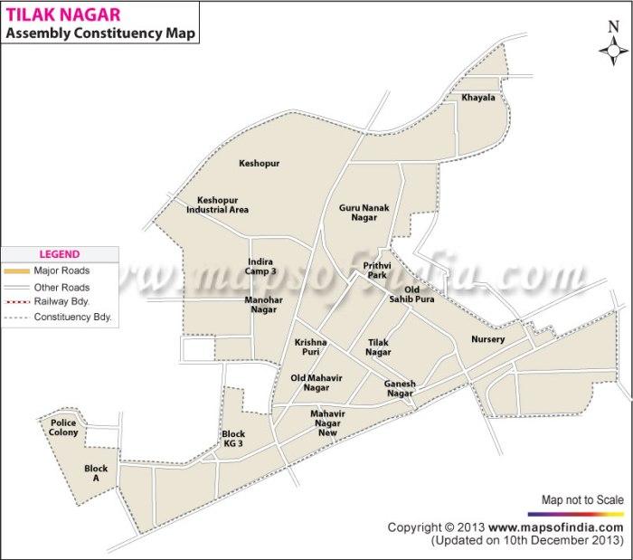Tilak Nagar: Constituency Map